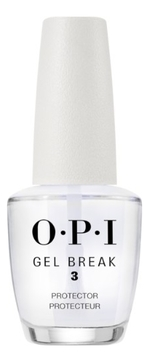 OPI Покрытие Gel Break Protector Top Coat Защищающее Верхнее с Глянцевым Финишем, 15 мл opi верхнее покрытие top coat 15 мл бесцветный