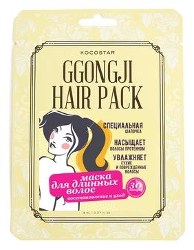 Kocostar Маска Ggongji Hair Pack Восстанавливающая для Поврежденных Волос Конский Хвост, 8 мл