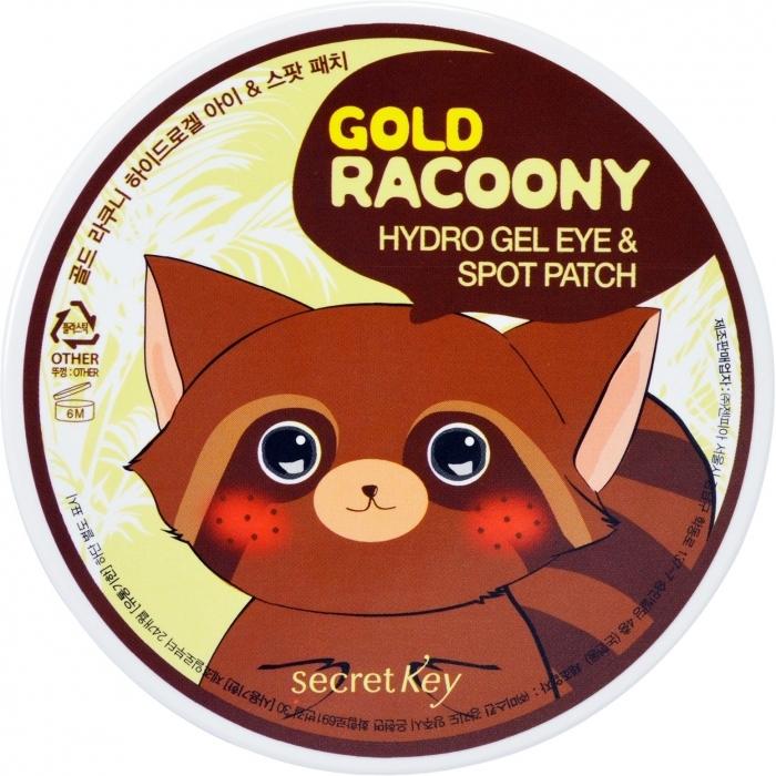 Secret Key Патчи Gold Racoony Hydro Gel Eye & Spot Patch Гидрогелевые для Кожи под Глазами, 60 шт