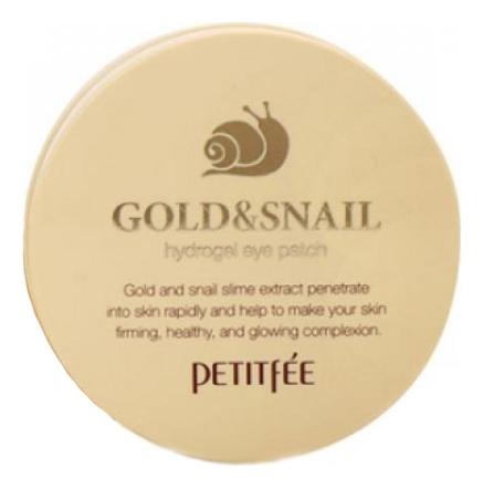 Petitfee Гидрогелевые Патчи для Области вокруг Глаз с Золотом и Муцином Улитки Gold & Snail Hydrogel Eye Patch, 60 шт цена