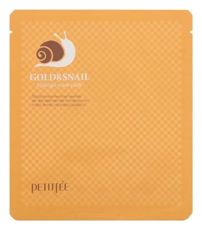 Petitfee Гидрогелевая Маска для Лица с Золотом и Муцином Улитки Gold & Snail Hydrogel Mask Pack, 30г