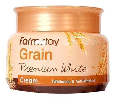FarmStay Осветляюшщий Крем с Маслом Ростков Пшеницы Grain Premium White Cream, 100г