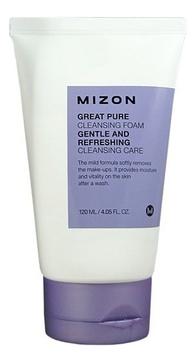 MIZON Пенка Great Pure Cleansing Foam Скрабирующая для Очищения Кожи Лица, 120 мл