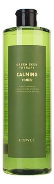 Eunyul Тонер Green Seed Therapy Calming Toner Успокаивающий для Лица с Экстрактами Зеленых Плодов, 500 мл успокаивающий тонер для лица ac collection calming liquid intensive 125мл