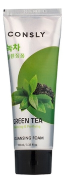 Consly Пенка Green Tea Balancing Creamy Cleansing Foam Балансирующая Кремовая для Умывания с Экстрактом Зеленого Чая, 100 мл недорого