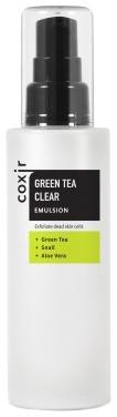 Coxir Эмульсия с Зеленым Чаем Green Tea Clear Emulsion, 100 мл lebelage collagen green tea moisture cream увлажняющий и питательный крем с коллагеном и зеленым чаем 60 мл