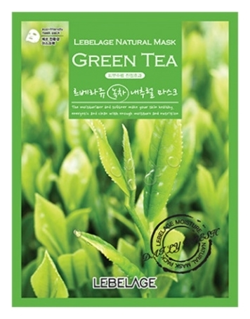 Lebelage Тканевая Маска с Экстрактом Зеленого Чая Green Tea Natural Mask, 23г