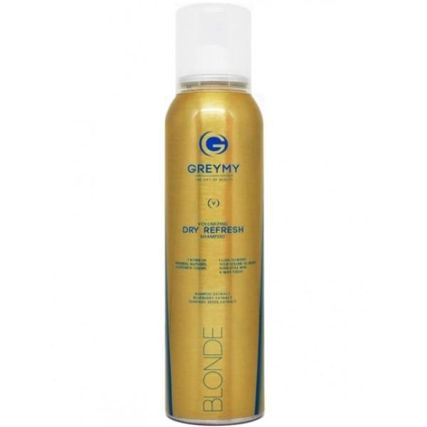 цена на Greymy Professional Сухой Шампунь Блонд Greymy Volumizing Dry Refresh Shampoo Blonde, 150 мл
