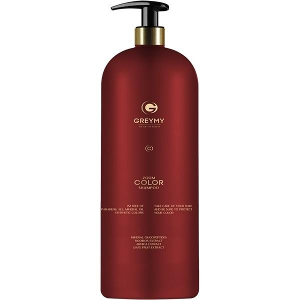 Greymy Professional Шампунь для Окрашенных Волос Greymy Zoom Color Shampoo, 1000 мл elgon шампунь для темных и темноокрашенных волос elgon moda and styling choco shampoo 07199 1000 мл