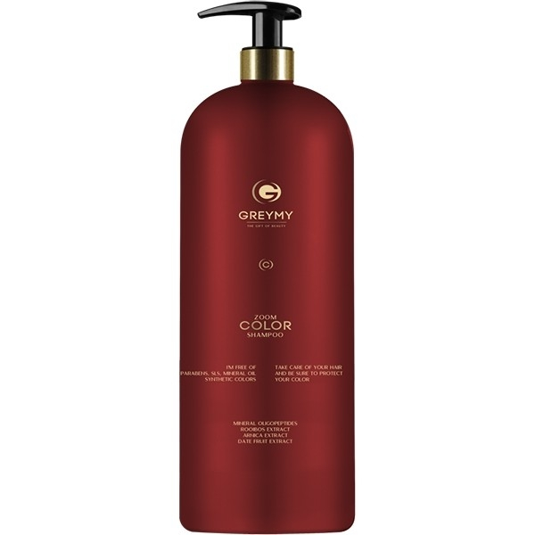 Greymy Professional Шампунь для Окрашенных Волос Greymy Zoom Color Shampoo, 1000 мл matrix biolage r a w color care shampoo шампунь для окрашенных волос 1000 мл