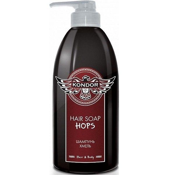 KONDOR Шампунь Hair Soap Hops Хмель, 750 мл kondor шампунь hair soap tobacco табак 750 мл