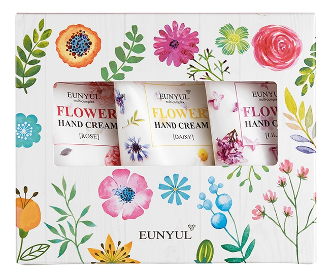Eunyul Набор из Трех Кремов для Рук Hand Cream 3 Set набор кремов для рук мужской dermal yeppen skin perfumed hand cream for men 10 шт 20 гр