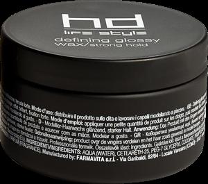 Farmavita Глянцевый Воск Сильной Фиксации HD Defining Glossy Wax, 100 мл жидкий воск мужской для волос liquid wax 150 мл