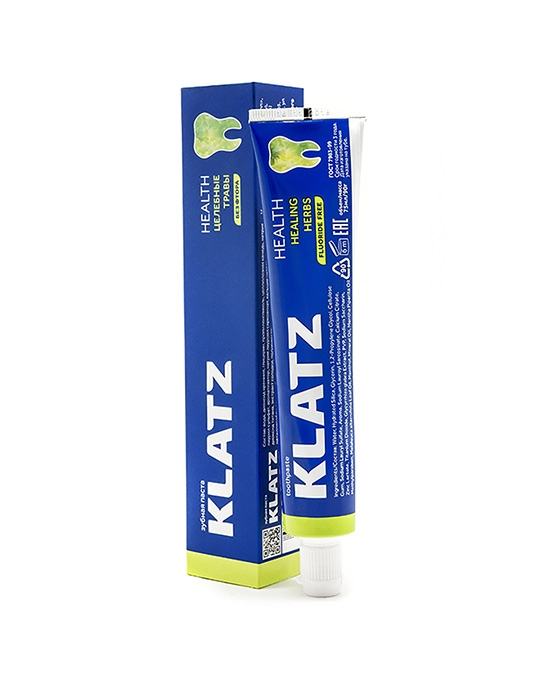 Klatz Зубная Паста Целебные Травы без Фтора Health, 75 мл