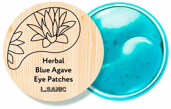 L.Sanic Гидрогелевые Патчи с Экстрактом Голубой Агавы Herbal Blue Agave Hydrogel Eye Patches, 60 шт patches of godlight