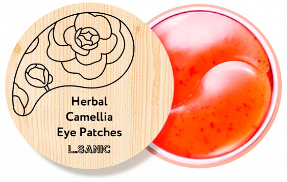 L.Sanic Гидрогелевые Патчи с Экстрактом Камелии Herbal Camellia Hydrogel Eye Patches, 60 шт