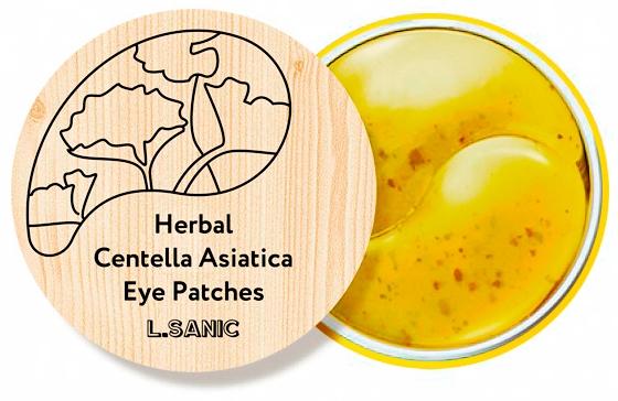 L.Sanic Гидрогелевые Патчи с Экстрактом Центеллы Herbal Centella Asiatica Hydrogel Eye Patches, 60 шт patches of godlight