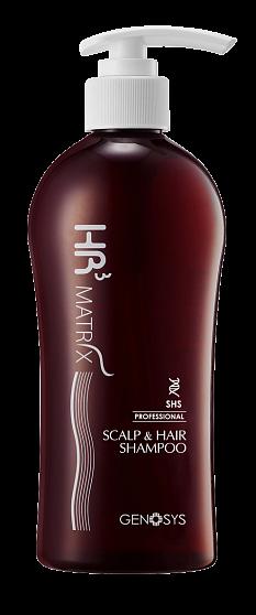 Genosys Шампунь HR3 Matrix Scalp & Hair Sampoo от Выпадения Волос, 300 мл ducray неоптид лосьон от выпадения волос для мужчин 100 мл