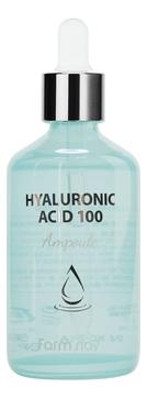 FarmStay Сыворотка Hyaluronic Acid 100 Ampoule Ампульная с Гиалуроновой Кислотой, 100 мл крем для ухода за кожей eunyul с гиалуроновой кислотой 100 мл