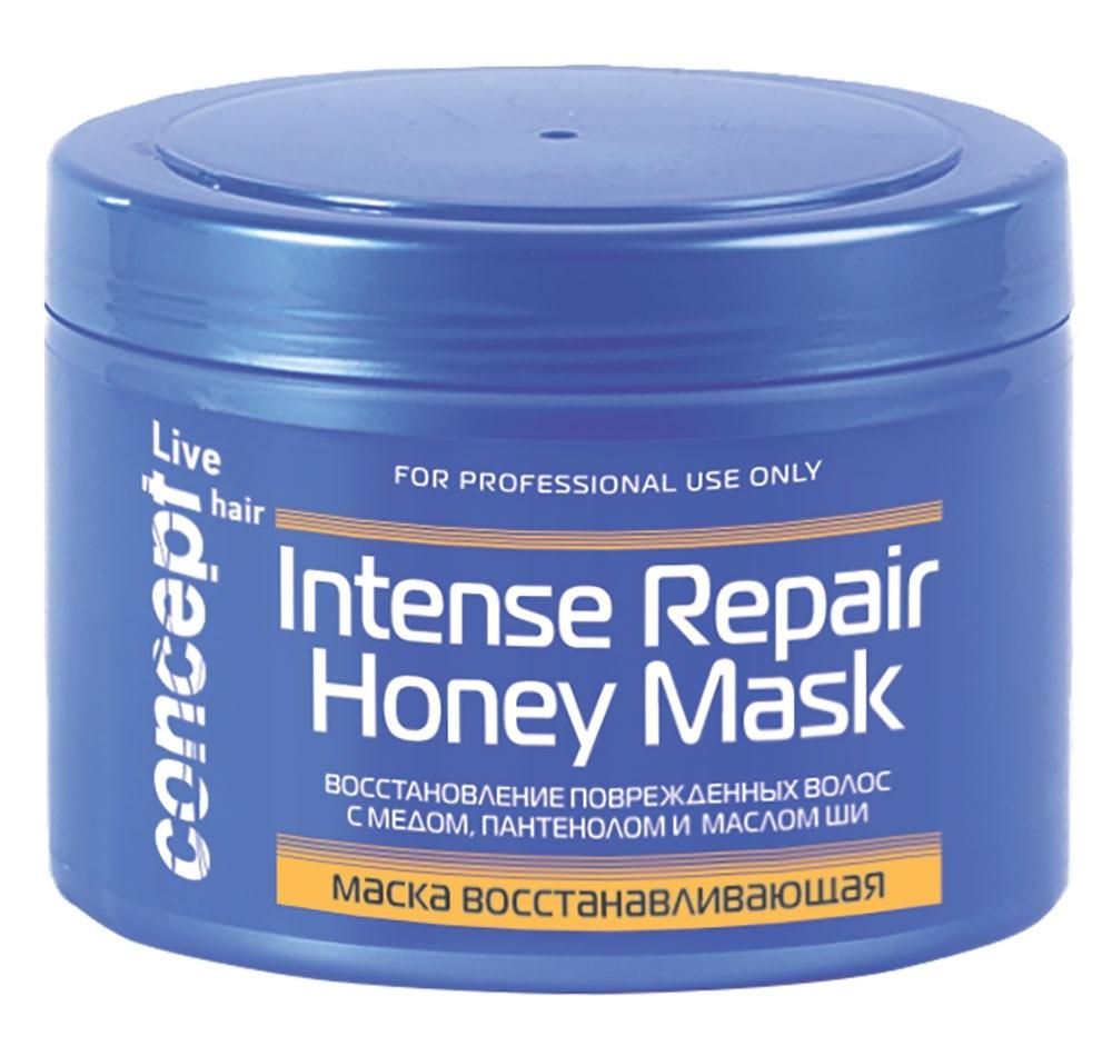 Concept Маска Intese Repair Honey Masк Восстанавливающая с Медом для Сухих и Поврежденных Волос, 500 мл shot маска для сухих и поврежденных с персиком 1000 мл