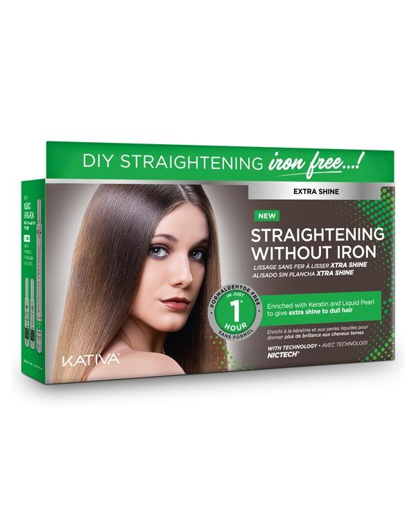 Kativa Набор Iron Free для Выпрямления Волос Экстра-Блеск для Тусклых Волос с Жемчугом и Кератином недорого
