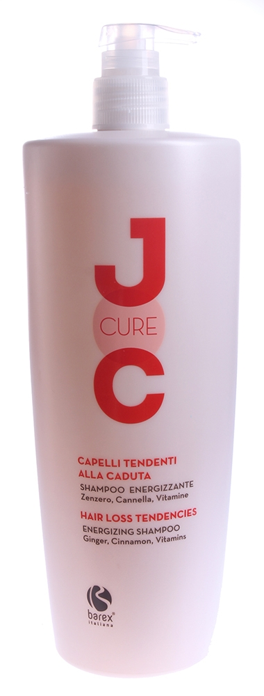 Barex Шампунь Joc Cure Energizing Shampoo Против Выпадения Волос с Имбирем, Корицей и Витаминами , 1000 мл