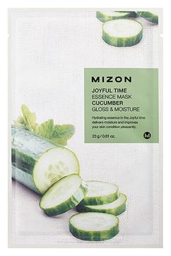 MIZON Маска Joyful Time Essence Mask Cucumber Тканевая для Лица с Экстрактом Огурца, 23г тканевая маска для лица с экстрактом огурца cucumber ultra hydrating essence mask 25г