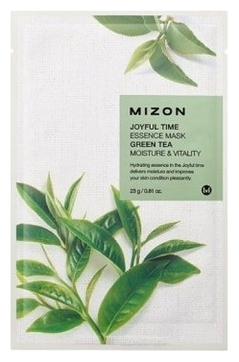 MIZON Маска Joyful Time Essence Mask Green Tea Тканевая для Лица с Экстрактом Зелёного Чая, 23г