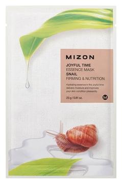 MIZON Маска Joyful Time Essence Mask Snail Тканевая для Лица с Экстрактом Улиточного Муцина, 23г
