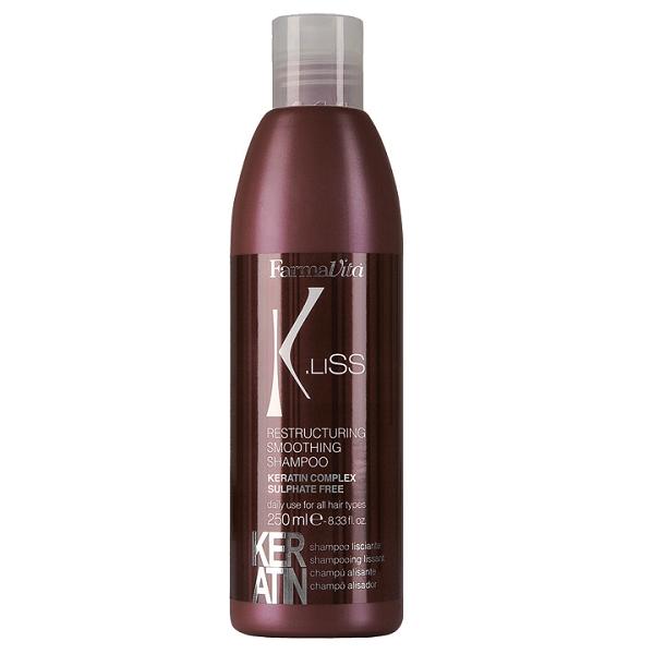 Farmavita Шампунь K.Liss Restructuring Smoothing Shampoo Реструктуризирующий с Кератином, 250 мл
