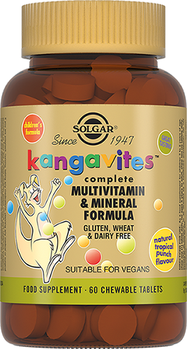 Solgar Жевательные Таблетки Kangavites Кангавитес с Мультивитаминами и Минералами со Вкусом Тропических Фруктов №60
