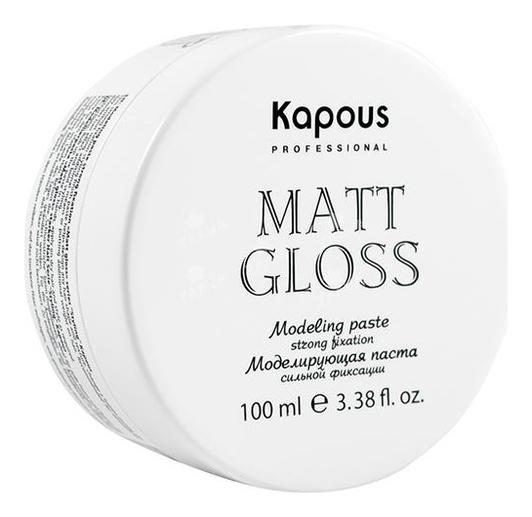 Kapous Моделирующая Паста для Волос Сильной Фиксации KAPOUS MATT GLOSS, 100 мл