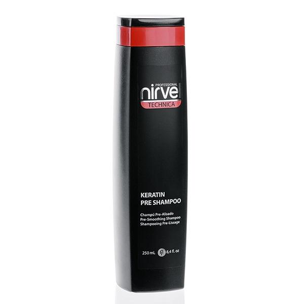 Фото - Nirvel Professional Шампунь Keratin Shampoo Pre №1 Кератиновый, 250 мл selective professional шампунь keratin rigenerante shampoo кератиновый 1000 мл