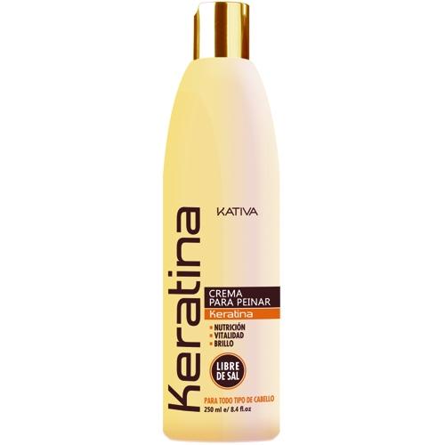 Kativa Крем Keratina Кератиновый Укрепляющий для Укладки Всех Типов Волос, 250 мл