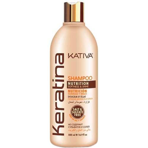 Kativa Шампунь Keratina Кератиновый Укрепляющий для Всех Типов Волоc, 500 мл kativa кератиновый укрепляющий шампунь для всех типов волоc keratina 500 мл