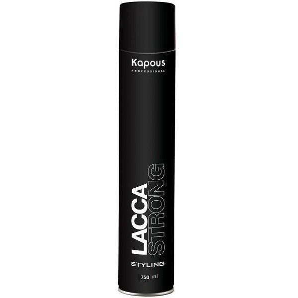 Kapous Лак Lacca Strong Аэрозольный для Волос Сильной Фиксации, 750 мл kapous лак аэрозольный для волос нормальной фиксации 750мл