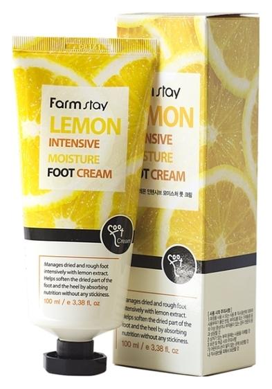 FarmStay Крем для Ног Увлажняющий с Экстрактом Лимона Lemon Intensive Moisture Foot Cream, 100 мл