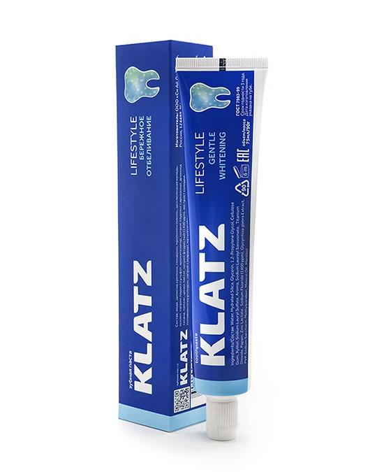 Klatz Зубная Паста Бережное Отбеливание Lifestyle, 75 мл
