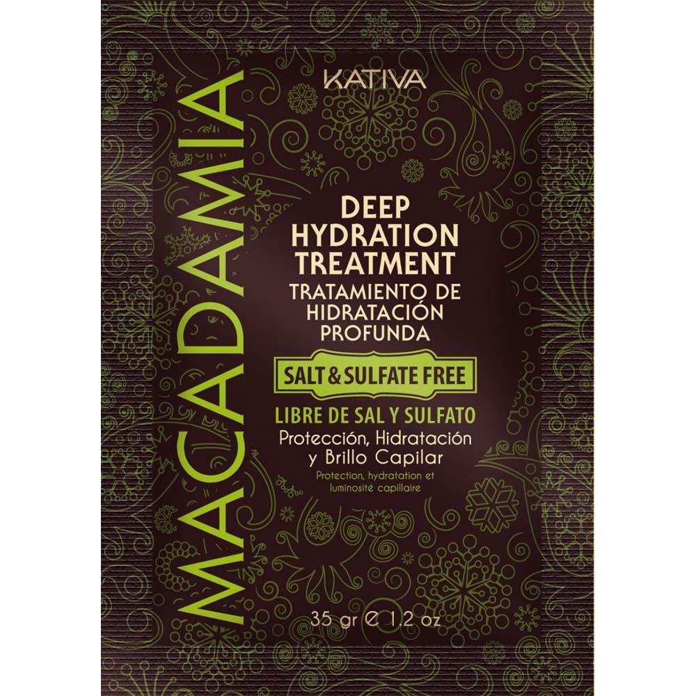 Kativa Маска Macadamia Интенсивно Увлажняющая для Нормальных и Поврежденных Волос, 35г