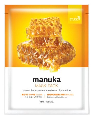 Bergamo Тканевая Маска для Лица с Экстрактом Меда Манука Manuka Honey Mask Pack, 28 мл маска из меда для лица