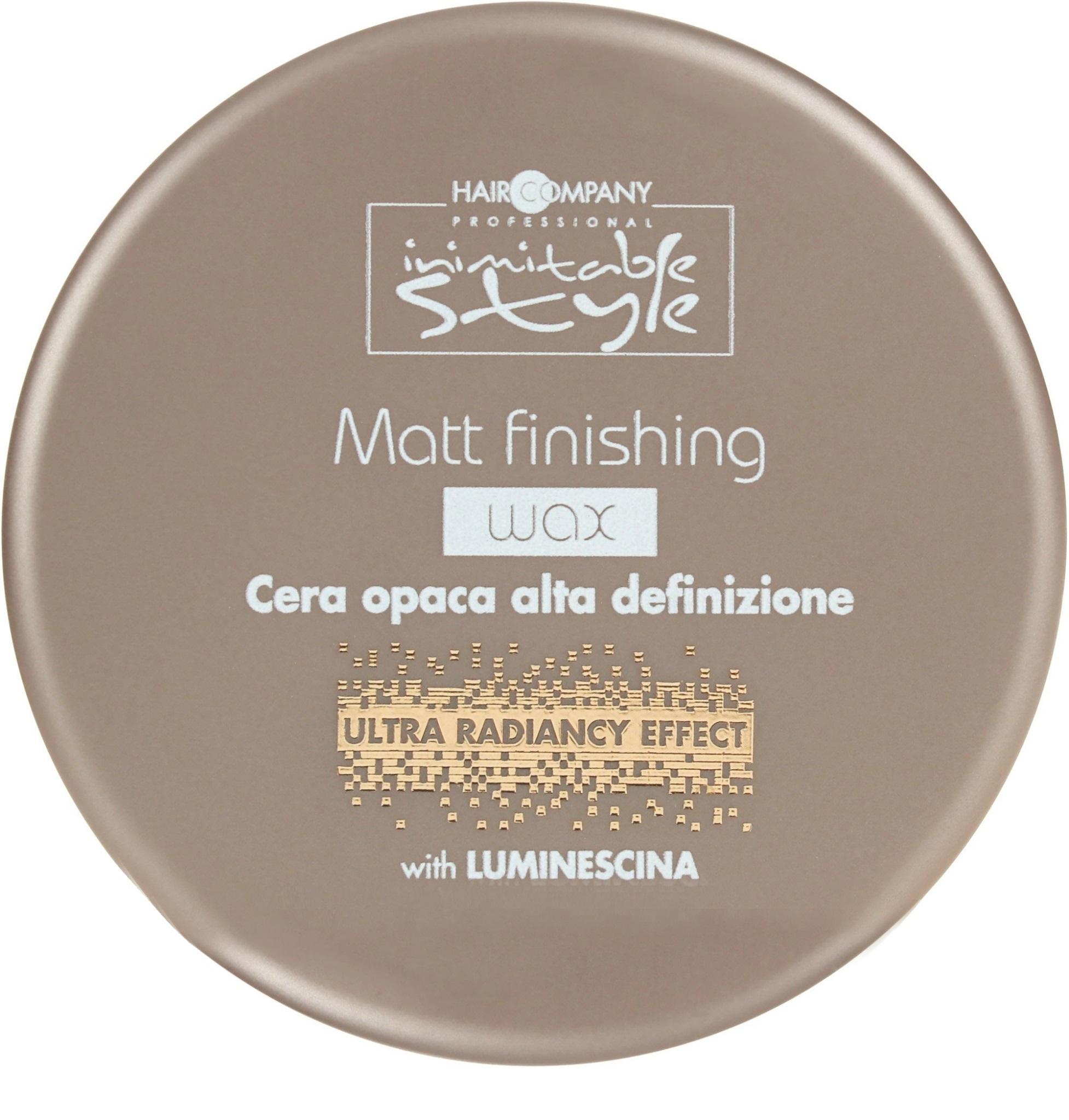 воск с матовым эффектом для укладки волос isoft matt clay wax 100 мл HAIR COMPANY Воск Matt Finishing Wax Завершающий с Матовым Эффектом, 100 мл