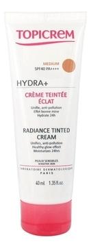 Topicrem Крем Hydra+ Creme Teintee Eclat Medium Тональный с Эффектом Сияния, 40 мл