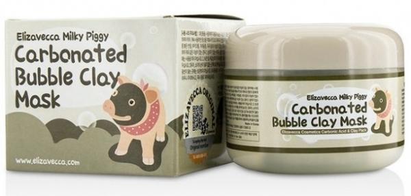 Elizavecca Маска Milky Piggy Сarbonated Bubble Clay Mask Пузырьковая для Лица с Глиной, 100г отшелушить кожу на лице