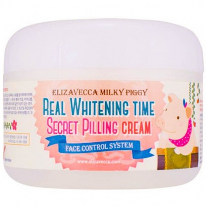 Elizavecca Крем Milky Piggy Real Whitening Time Secret Pilling Cream Увлажняющий, 100 мл