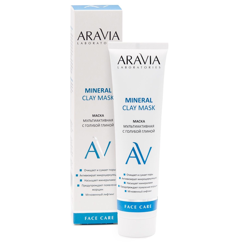 ARAVIA Маска Mineral Clay Mask Мультиактивная с Голубой Глиной, 100 мл
