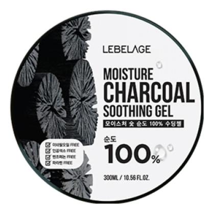 Lebelage Увлажняющий Успокаивающий Гель с Углем Moisture Charcoal Purity 100% Soothing Gel, 300 мл farmstay гель увлажняющий успокаивающий с экстрактом алоэ aloevera moisture soothing gel 200 мл