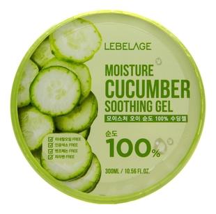 Lebelage Гель Moisture Cucumber Purity 100% Soothing Gel Увлажняющий Успокаивающий с Огурцом, 300 мл гель для тела lebelage moisture avocado 100% soothing gel универсальный с экстрактом авокадо 300 мл