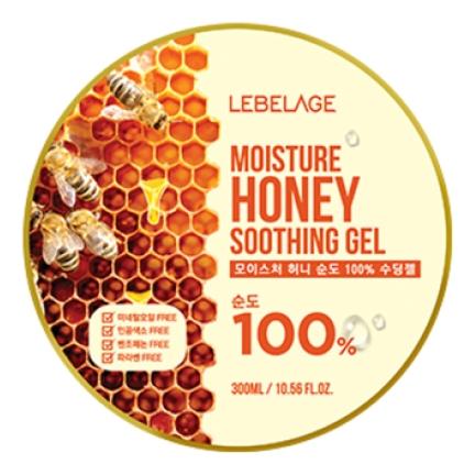 Lebelage Увлажняющий Успокаивающий Гель с Экстрактом Мёда Moisture Honey Purity 100% Soothing Gel, 300 мл farmstay гель увлажняющий успокаивающий с экстрактом алоэ aloevera moisture soothing gel 200 мл