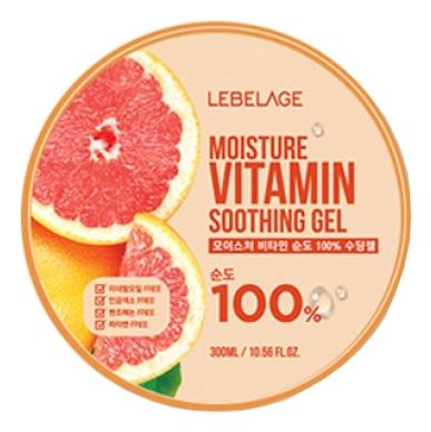Lebelage Увлажняющий Успокаивающий Гель с Витаминами Moisture Vitamin Purity 100% Soothing Gel, 300 мл farmstay гель увлажняющий успокаивающий с экстрактом алоэ aloevera moisture soothing gel 200 мл