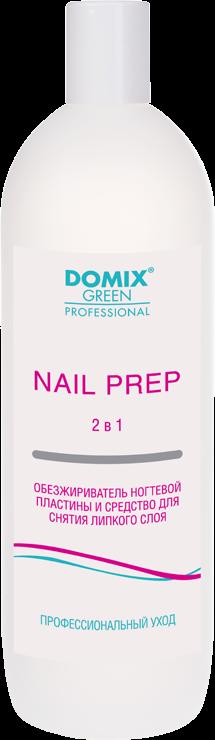 Domix Обезжириватель Nail Prep 2 в 1 Ногтевой Пластины и Средство для Снятия Липкого Слоя, 1000 мл